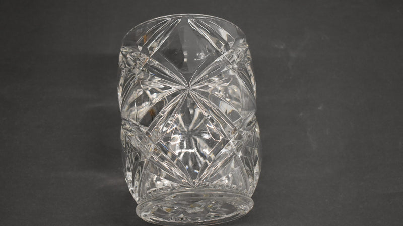 Crystal Glass Mid Century Wine Cooler- Ice Bucket - Diamond Pattern  - Home Decor