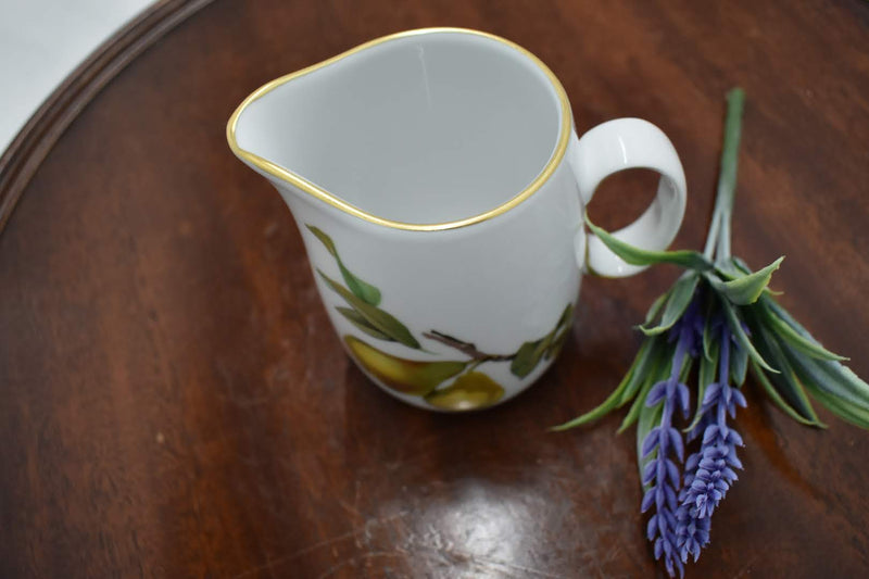Royal Worchester Evesham - Porcelain Fine China - Creamer - Gold Rim- England