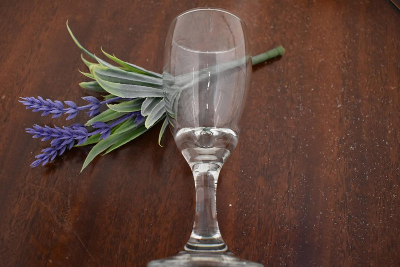 Wine, Juice Glass - 3 oz -  Elegant Mid Century Glass
