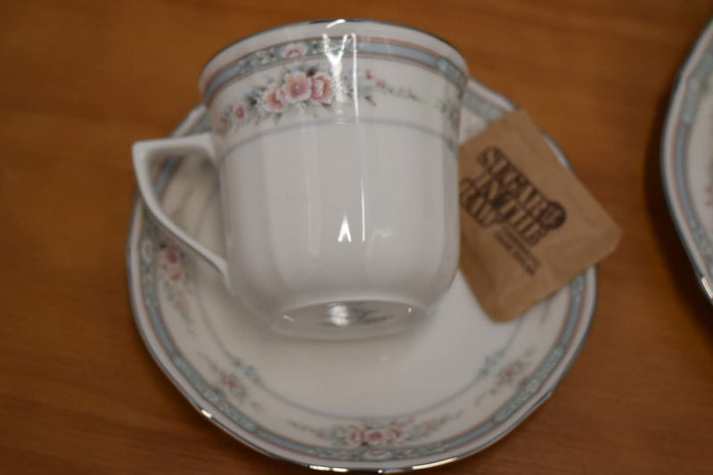 Noritake Rothschild Pattern - Porcelain Fine China - Tea Coffee Cup And Saucer