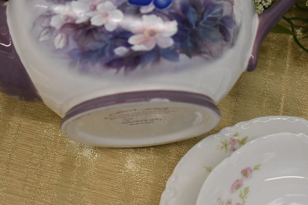 LIMOGES HAVILAND FINE BONE CHINA - DESERT BOWL AND PLATE- LENA LIU CERAMIC TEA COFFEE POT - FROM FRANCE