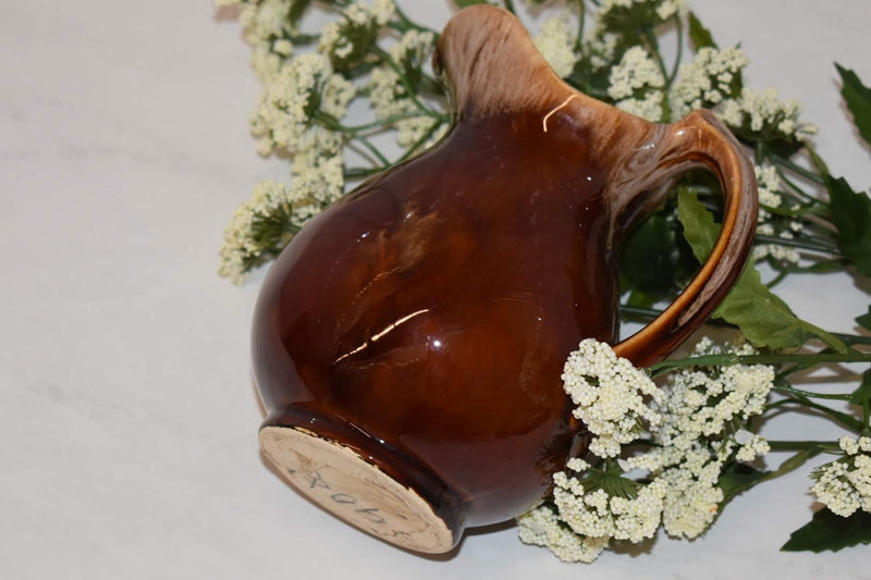 BROWN GLAZED -19TH CENTURY- PITCHER JUG- HOME DECOR- NEW