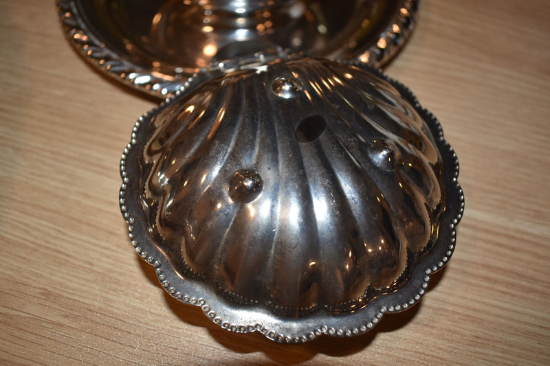 Silver Plated Mid Century Shell Shape Bowl
