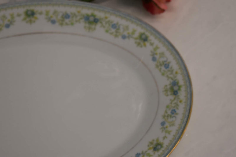 Noritake Contemporary Spring Meadow - Fine Porcelain China - Oval Large Platter