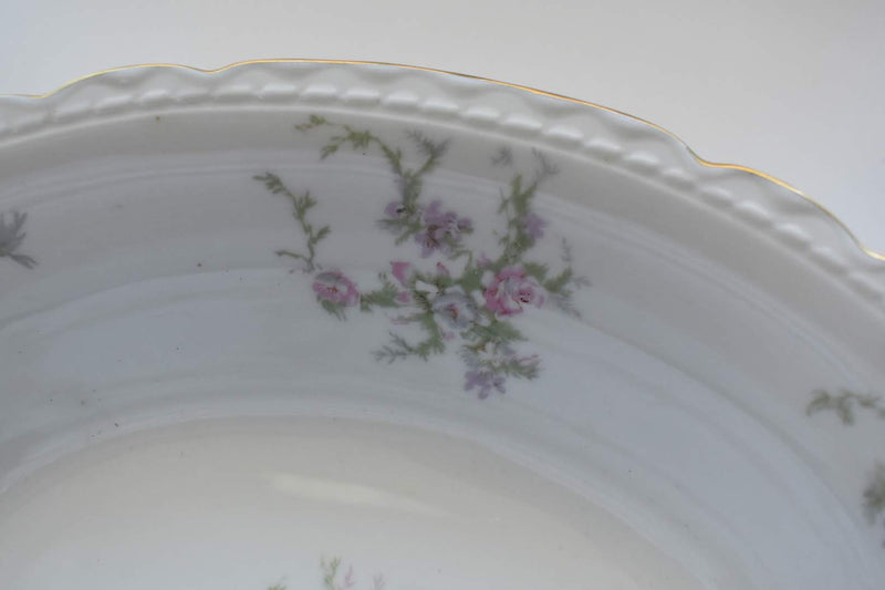 Vogue - Fine Porcelain China - Floral Pattern - Oval Vegetable Bowl