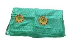 Load image into Gallery viewer, Pure Georgette Embroidered Saree in Aqua Green Color