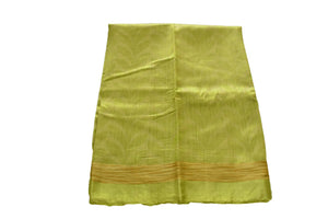 Pure Tussar Silk Saree with leaf design in Green Color