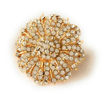 Load image into Gallery viewer, Gold Plated Hair Clip with White Jewel stones II