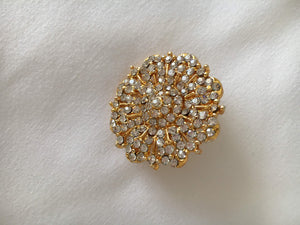 Gold Plated Hair Clip with White Jewel stones II