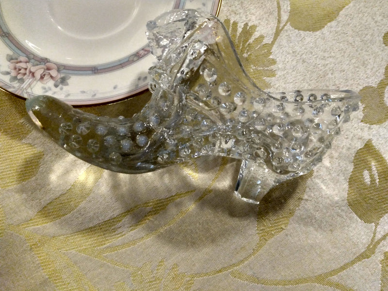 Crystal Glass Shoe - Mid Century - Home Decor