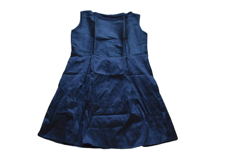 Royal Navy Blue Color - Silk Taffeta Junior Dress