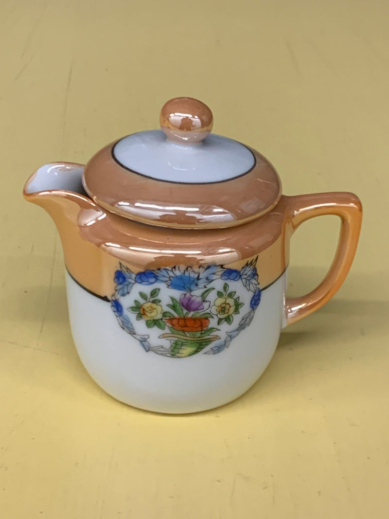 Noritake Porcelain Fine China- Sugar Bowl With Lid, Creamer And Tray