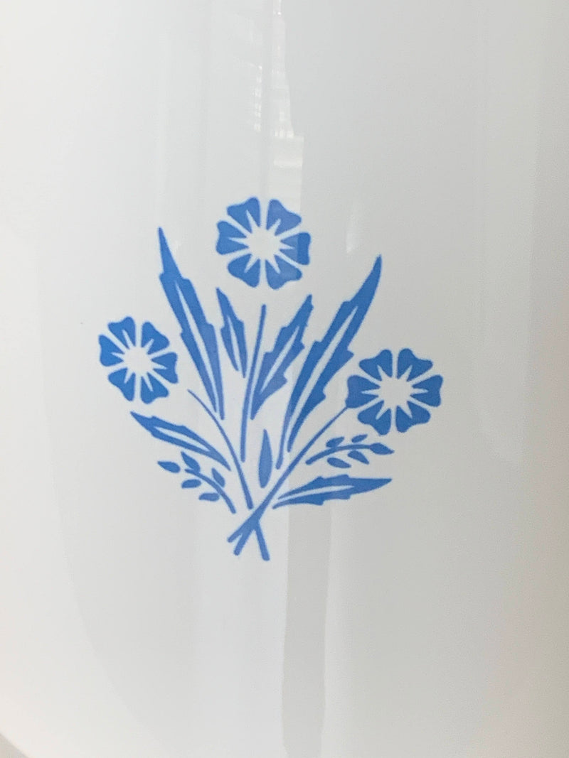 Corning ware Collectible - White Blue Corn Flower - Percolator