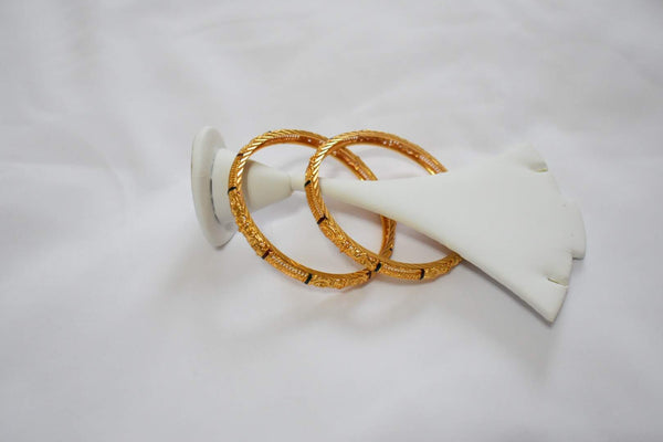 Gold Plated Bangles -Design VI Size - 2.6