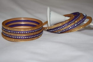 Jewel Stone studded Bangles in Purple Color. Size - 2.8/2.10