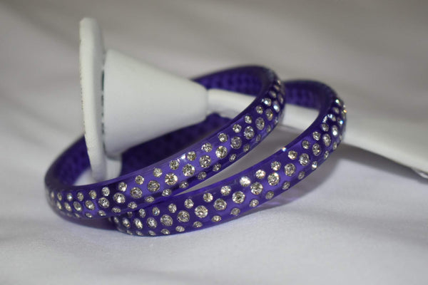Jewel Stone studded Kadas in Purple Color. Size - 2.8/2.10
