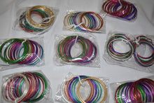 Load image into Gallery viewer, Multicolored Metal Bangles III - Set of 6 bangles