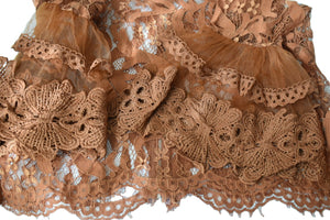 Lace Top in Brown color, Size - X Small/ Small