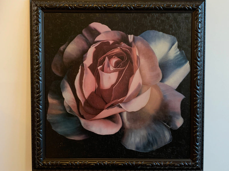 WALL DECOR- FRAMED PAINTING- ROSE DESIGN