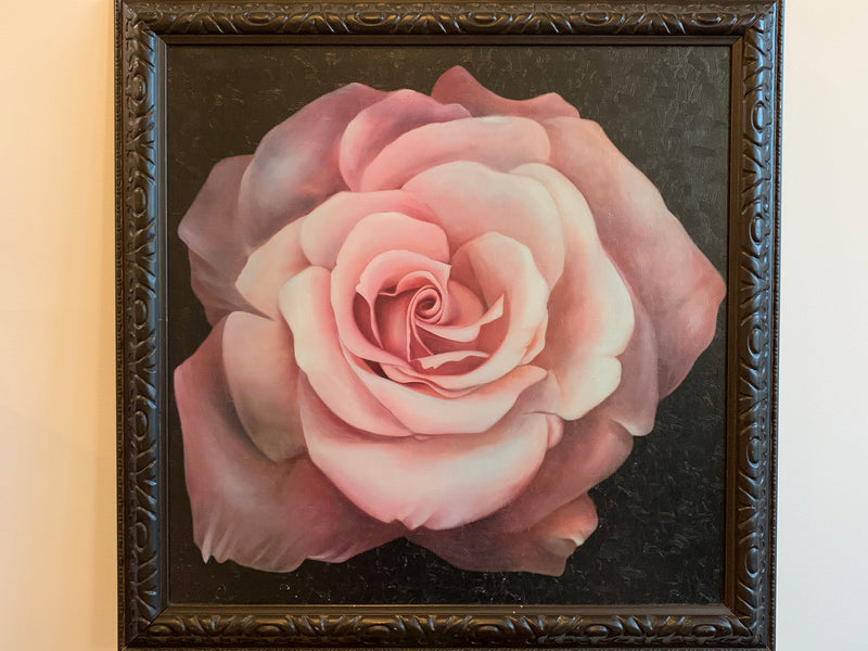 Wall Decor- Framed canvas Painting- Rose Design