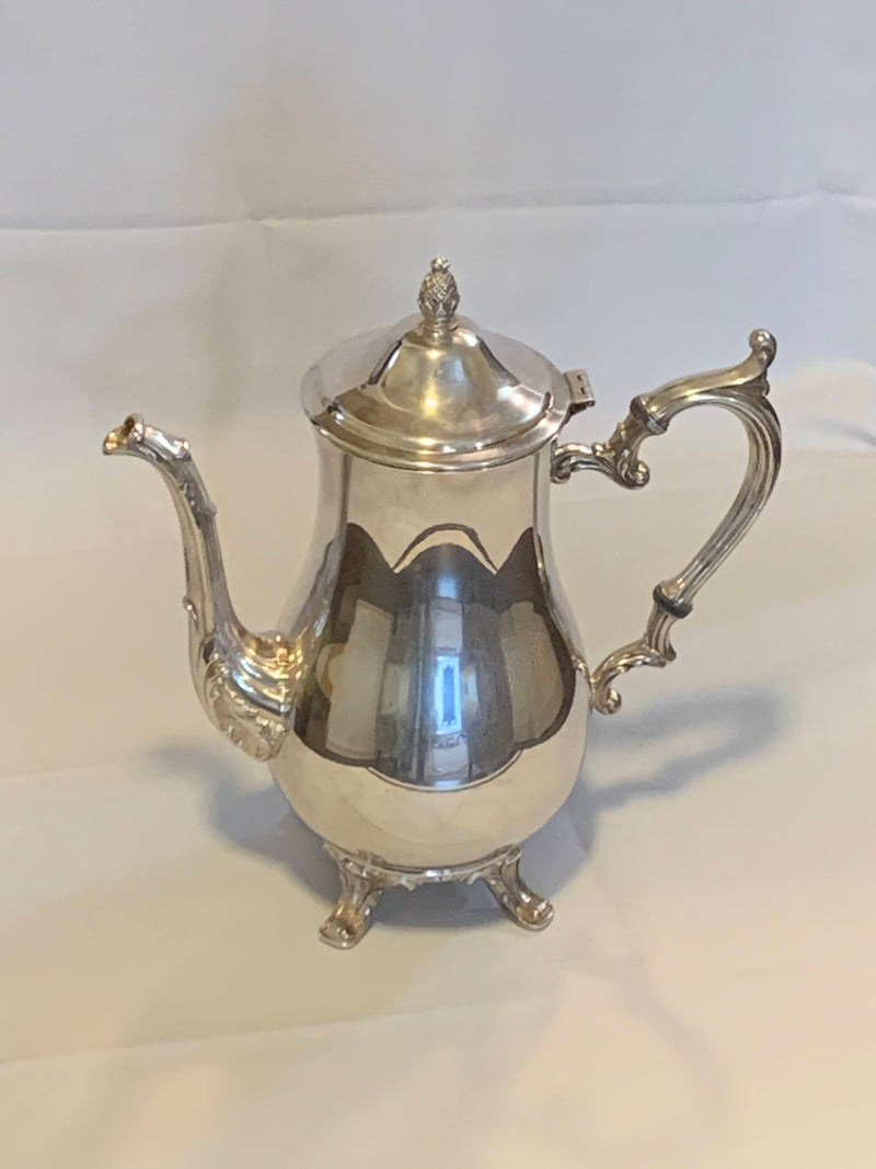 Silver Plated Mid Century Pitcher, Tea Pot with foot