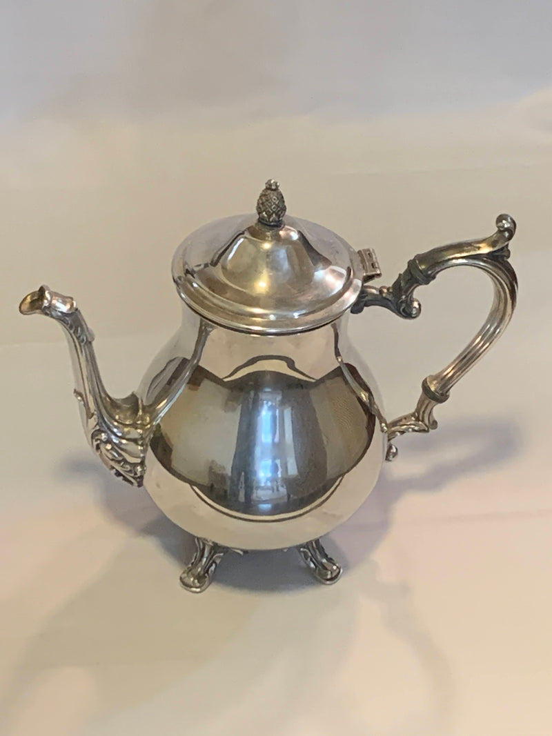 Silver Plated  Mid century Tea Pot, Pitcher with foot