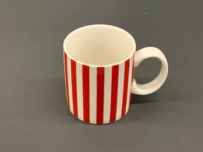 White and Red Candy Cane Design Coffee Mug