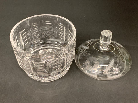 Crystal Glass Candy/Chocolate Dish with Lid