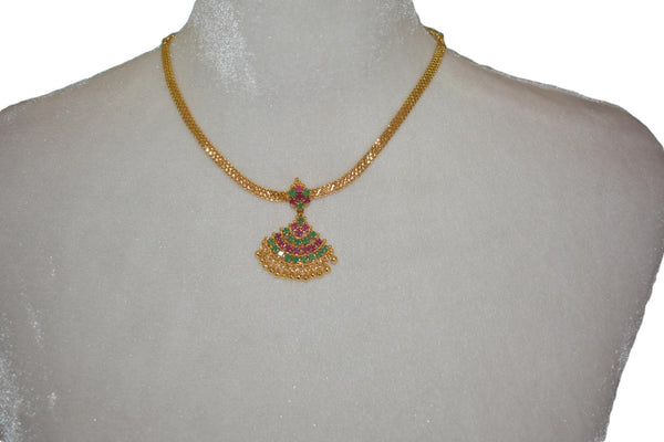 Gold Plated Choker Necklace Design I