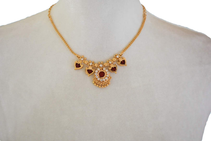 Gold Plated Choker Necklace Design V