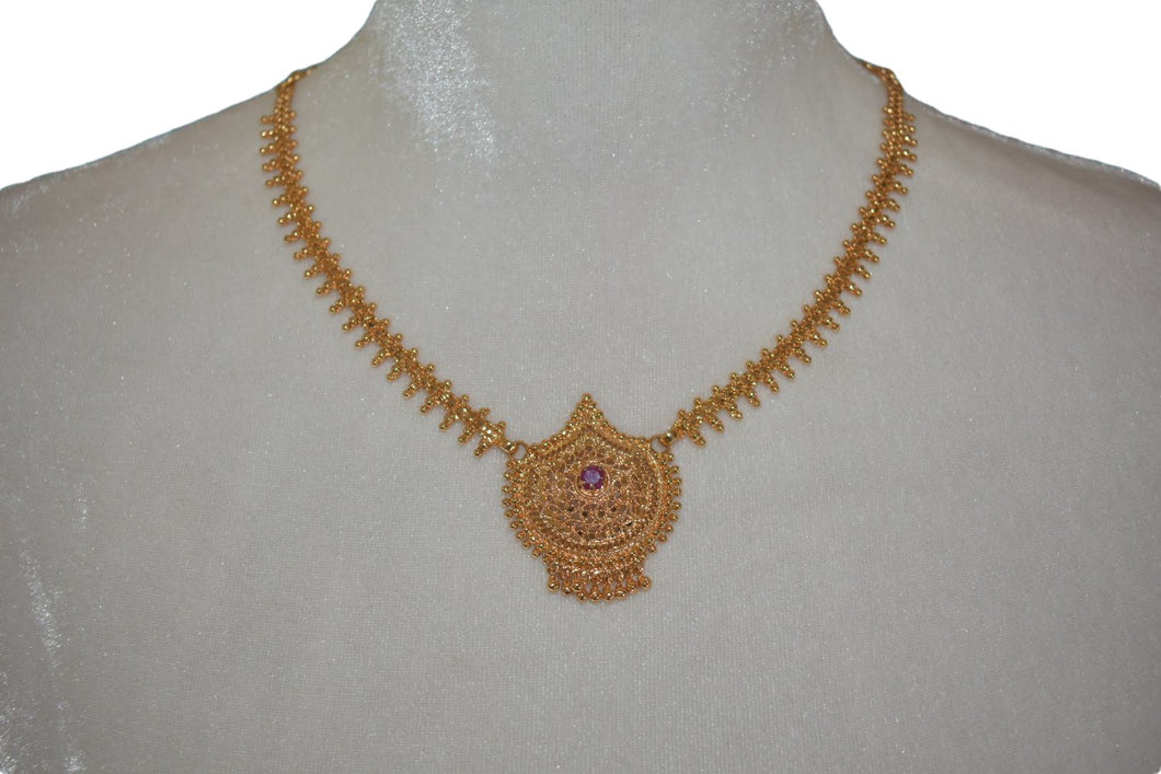 Gold Plated Choker Necklace Design IV