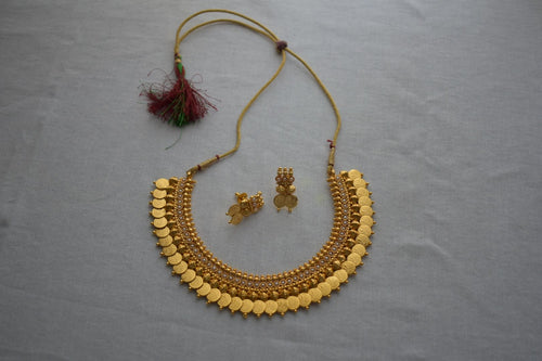 Goddess Lakshmi Choker Necklace with Earrings- artificial jewelry