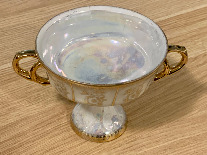 Moonstone Pearl Color - Porcelain Fine China - Authentic And Rare - Floral Pattern Japanese Cup