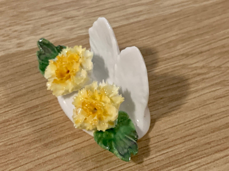 Porcelain Fine China - Carnation Yellow Flower - Home Decor