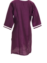 Load image into Gallery viewer, Pure Silk Kurti Top in Purple color