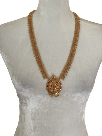 Gold Plated Necklace with Golden beads