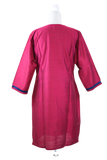 Pure Silk Kurti Top in Dark Pink color