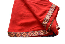 Load image into Gallery viewer, Pure Georgette Saree with zari border in Burgundy Red Color