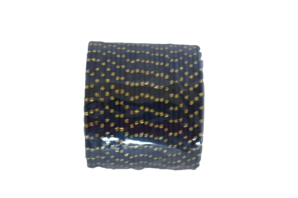 Metal Bangles with Gold Dots in Navy color.Size - 2.8/2.10