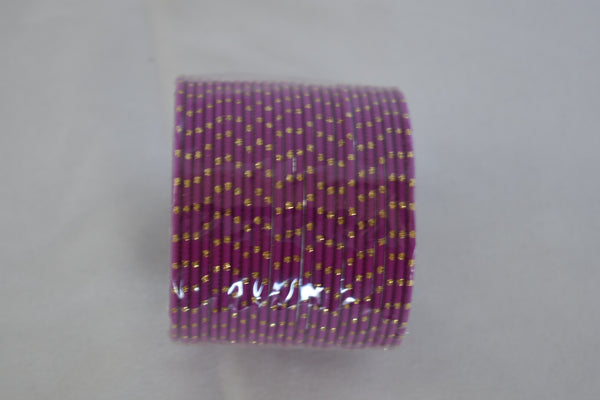 Metal Bangles with gold in Lilac Purple color. Size- 2.8/2.10