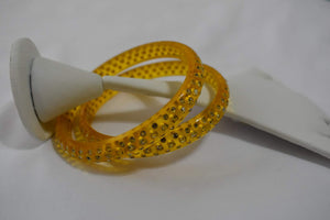 Jewel Stone studded Kadas in Yellow Color. Size - 2.8/2.10