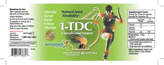 1-TDC Joint & Muscle Health Daily Supplement - 4 Bottles (360 Soft Gels)