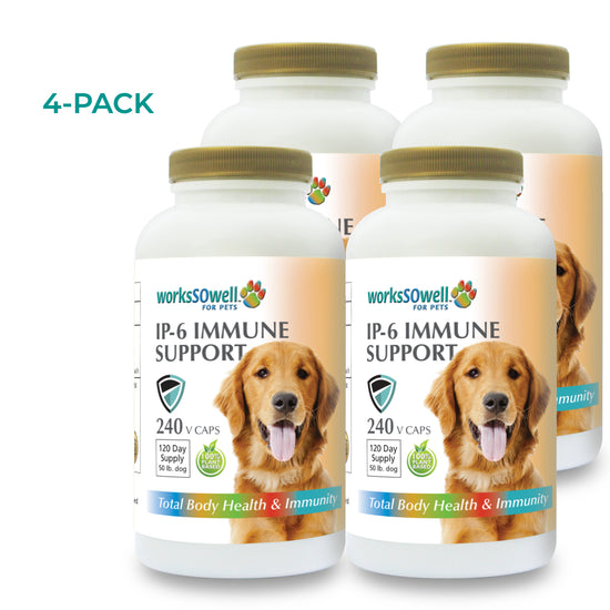 IP-6 IMMUNE SUPPORT for Dogs 4 Bottles (960 V-Caps)