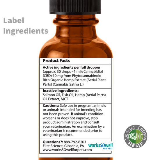 Organic Hemp Oil for Dogs & Cats 30ml 2-Bottles
