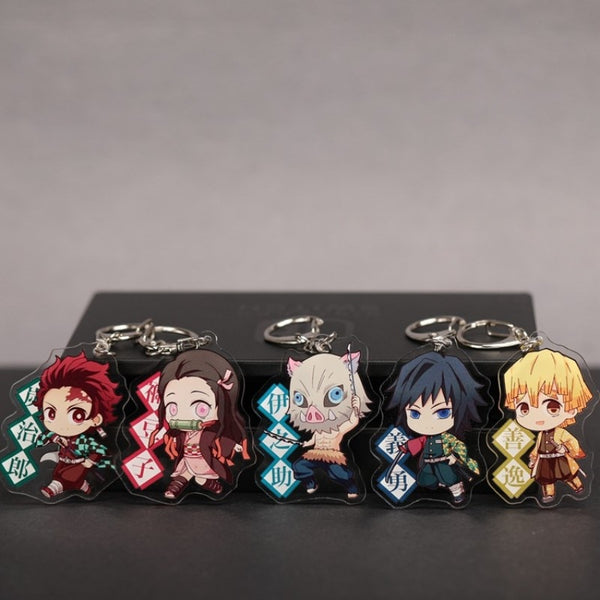Tanjiro, Nezuko, Zenitsu and more keyrings! | Keychains