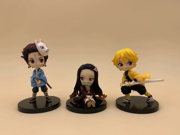 Tanjiro, Nezuko, Zenitsu 3 piece set | Action Figures