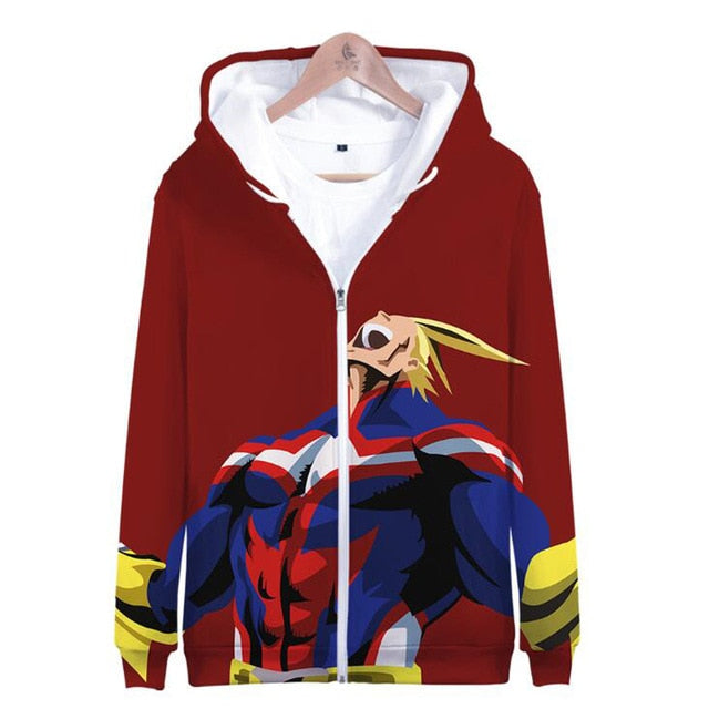 All Might Full Print Hoodie | Red Design