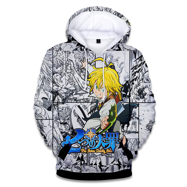 Meliodas and Ban 3D Hoodies | Manga Version