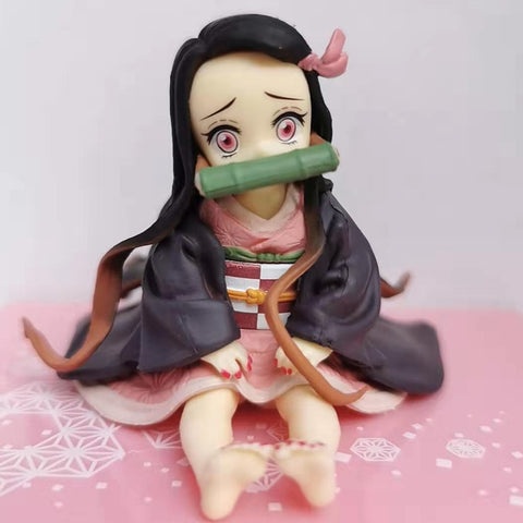 Cute Chibi Nezuko | Sitting Action Figure