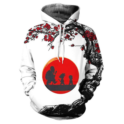 Hermit Trio Full-Print Jacket | Red Moon Petals Design